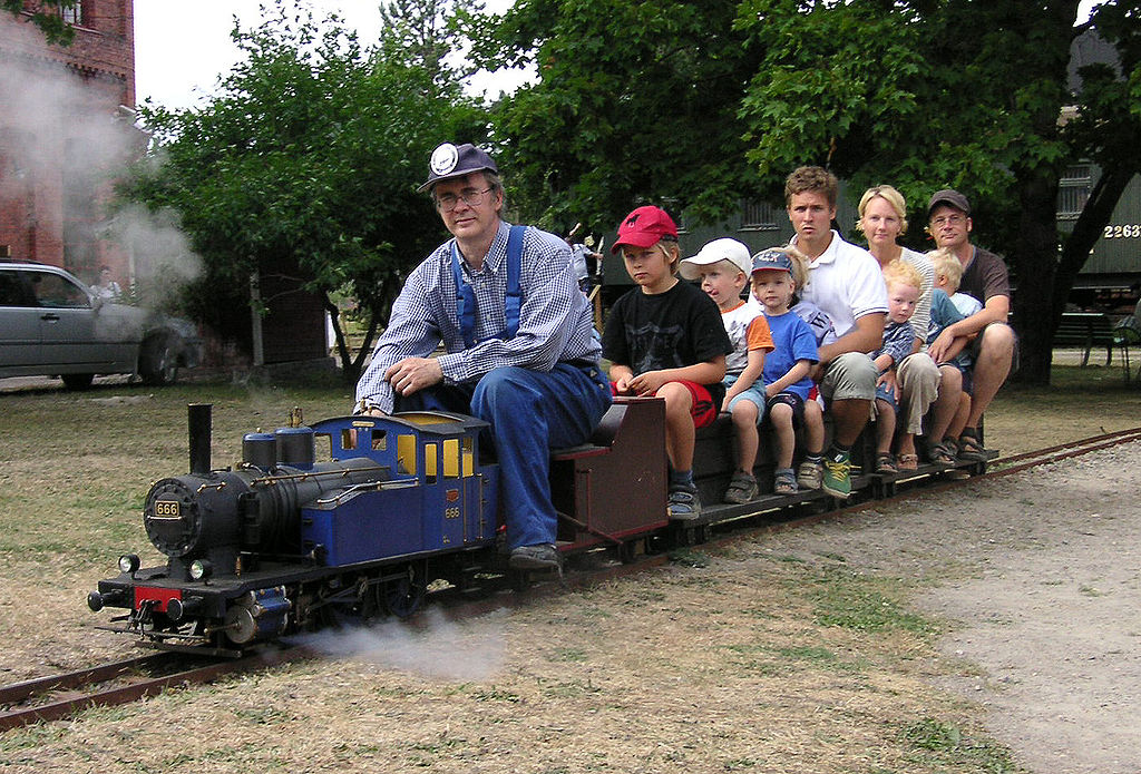 Kiddy Train with Creepy Conductor